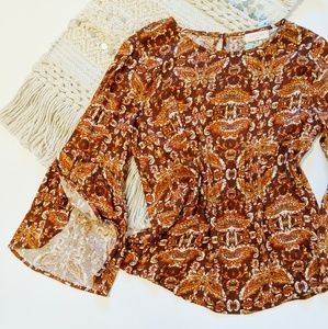 Stitch Fix Sophie Rue • Paisely Bell Sleeve Boho